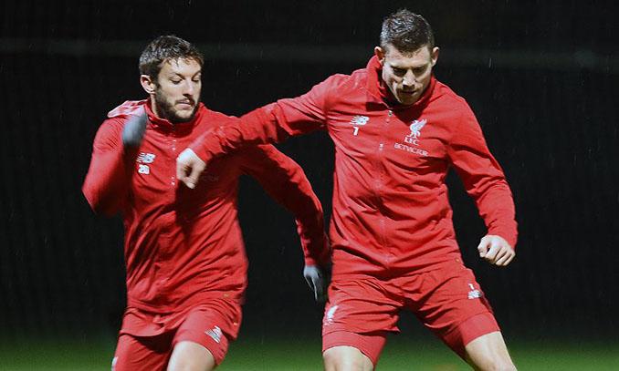 Adam Lallana y James Milner en un entrenamiento del Liverpool - Odio Eterno Al Fútbol Moderno