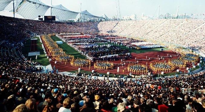 Ceremonia de inauguración de los Juegos Olímpicos de 1972 en el Olympiastadion - Odio Eterno Al Fútbol Moderno