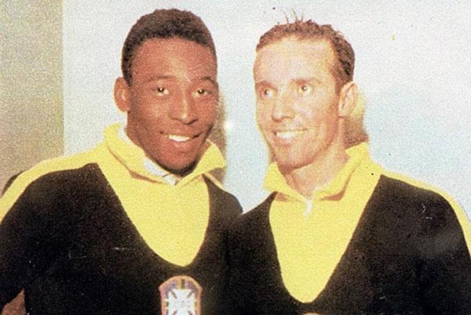 Pelé y Zagallo en 1958 - Odio Eterno Al Fútbol Moderno