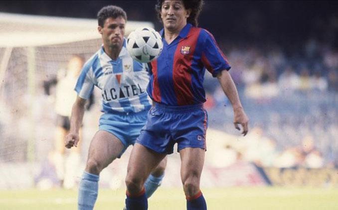 Romerito en su último encuentro como azulgrana ante el CD Málaga - Odio Eterno Al Fútbol Moderno