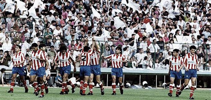 Atlético de Madrid en la final de Copa del Rey de 1992 disputada en el Bernabéu - Odio Eterno Al Fútbol Moderno