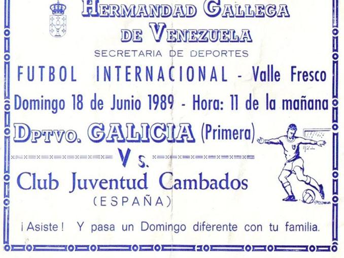 Cartel de la gira venezolana del Juventud Cambados - Odio Eterno Al Fútbol Moderno