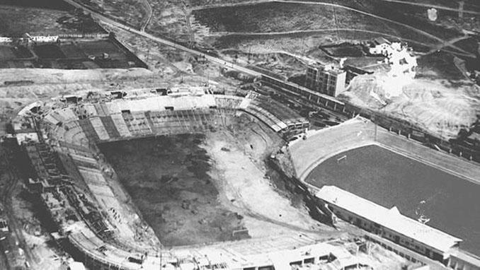 Construcción del Nuevo Estadio de Chamartín en los años 40 - Odio Eterno Al Fútbol Moderno