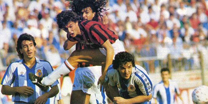 Duelo entre RCD Espanyol y AC Milan en la Copa de la UEFA 1987-1988 - Odio Eterno Al Fútbol Moderno