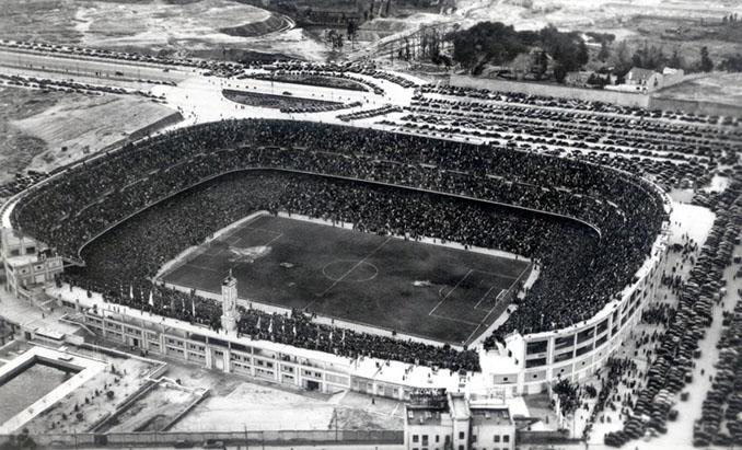 """Estadio """"Nuevo """"Chamartín en 1947 - Odio Eterno Al Fútbol Moderno"""