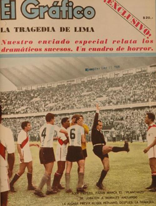 Portada de El Gráfico con la tragedia del Estadio Nacional del Perú - Odio Eterno Al Fútbol Moderno