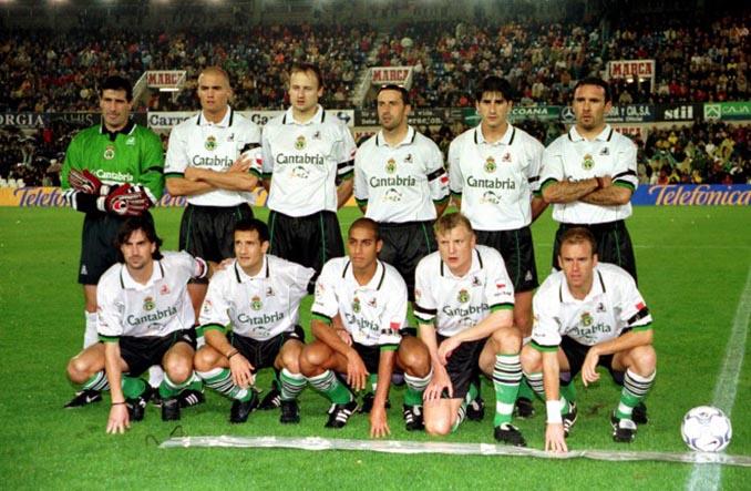 11 inicial del Racing de Santander en un partido de la 1999-2000 - Odio Eterno Al Fútbol Moderno