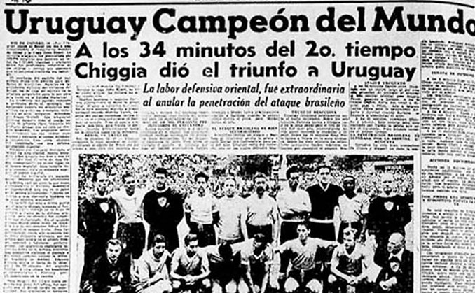 Uruguay ganó su segundo Mundial en 1950 - Odio Eterno Al Fútbol Moderno