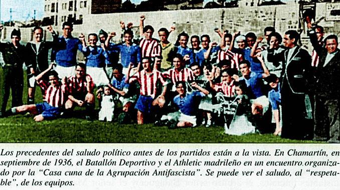 Imagen del partido del Batallón Deportivo frente al Athletic Madrileño - Odio Eterno Al Fútbol Moderno
