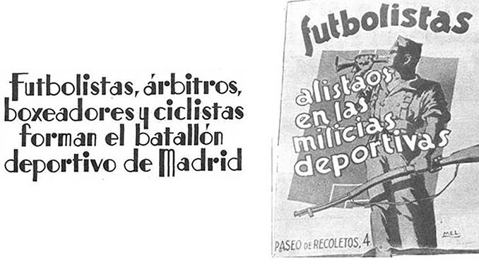 Cartel propagandístico del Batallón Deportivo - Odio Eterno Al Fútbol Moderno
