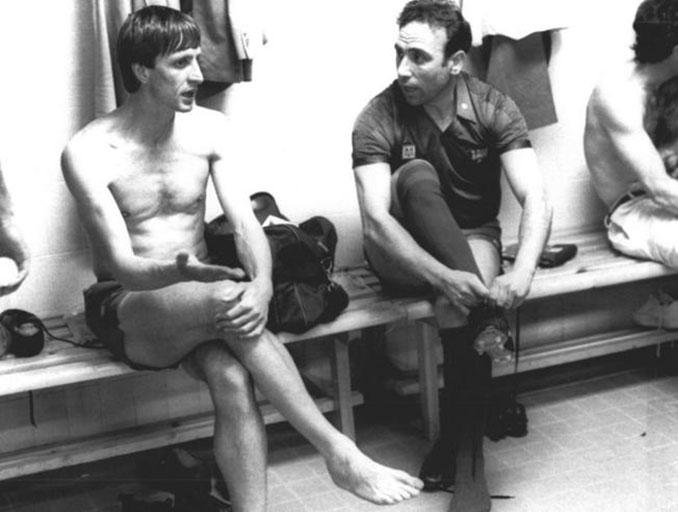 Cruyff y Rifé en su etapa como jugadores del FC Barcelona - Odio Eterno Al Fútbol Moderno