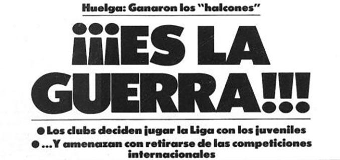 Portada de Mundo Deportivo haciéndose eco de la primera huelga de futbolistas - Odio Eterno Al Fútbol Moderno