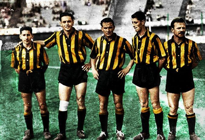 """La """"escuadrilla de la muerte"""" de Peñarol en 1949 - Odio Eterno Al Fútbol Moderno"""