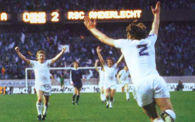 El RSC Anderlecht ganó dos Recopas de Europa en los años 70 - Odio Eterno Al Fútbol Moderno