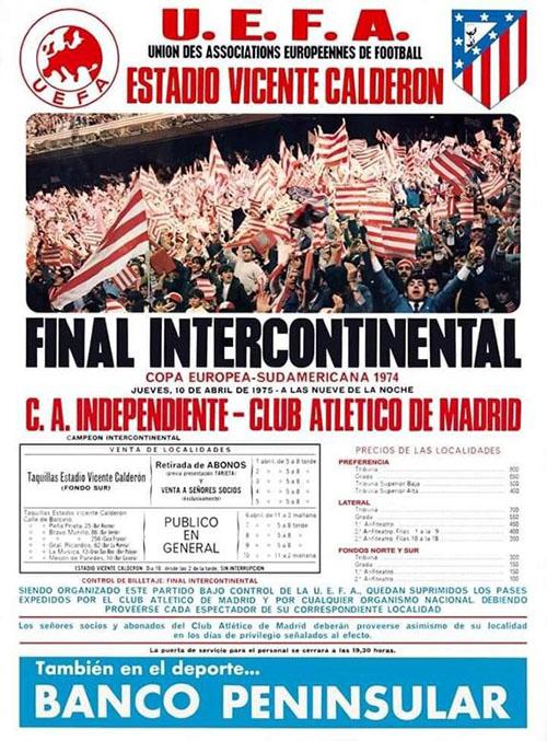 Cartel de la final de la Intercontinental de 1974 - Odio Eterno Al Fútbol Moderno
