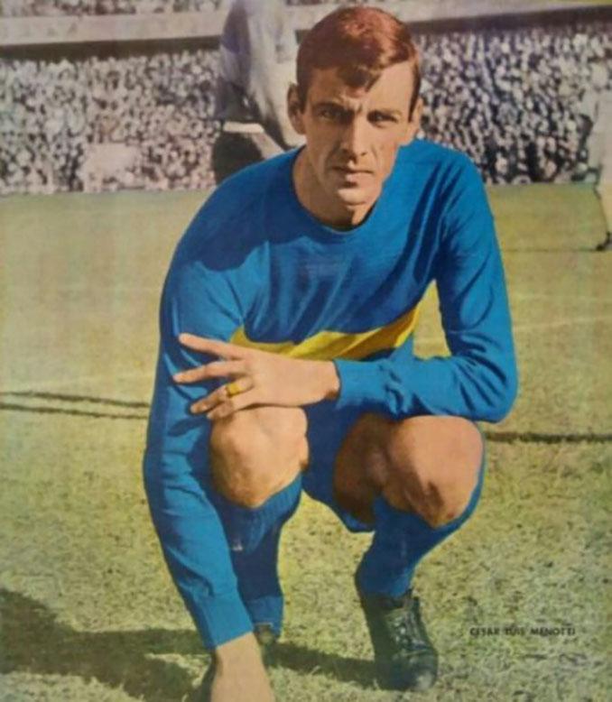 Menotti durante su etapa como jugador de Boca Juniors - Odio Eterno Al Fútbol Moderno