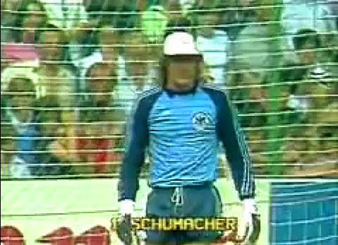 Harald Schumacher durante el Alemania vs Austria de 1982 - Odio Eterno Al Fútbol Moderno