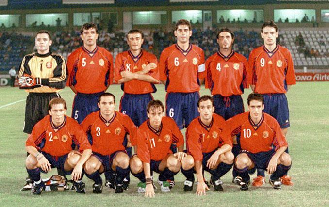 Once inicial de España en el partido frente a Chipre el 5 de septiembre de 1998 - Odio Eterno Al Fútbol Moderno
