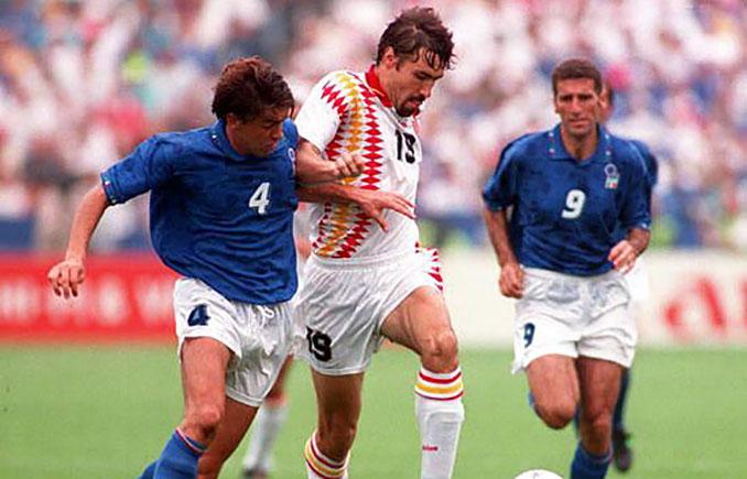 Salinas en el partido frente a Italia en el Mundial de 1994 - Odio Eterno Al Fútbol Moderno