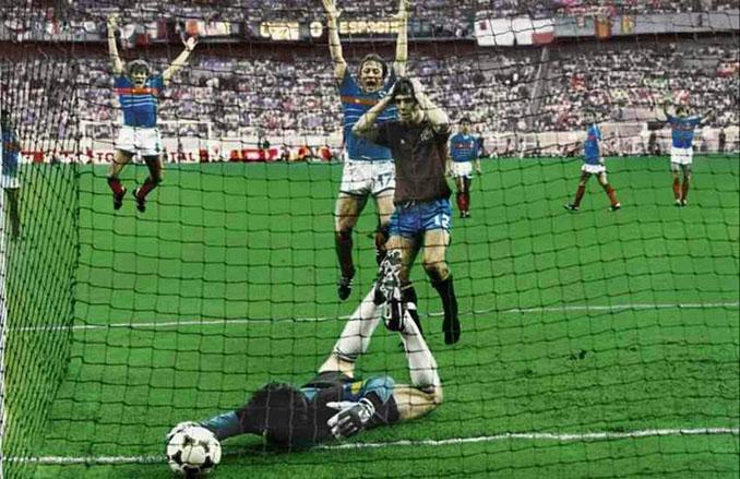 Arconada falló en el primer gol de Francia en la final de la Eurocopa '84 - Odio Eterno Al Fútbol Moderno