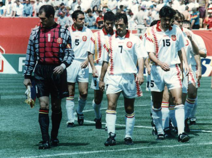 España tras caer ante Italia en el Mundial '94 - Odio Eterno Al Fútbol Moderno