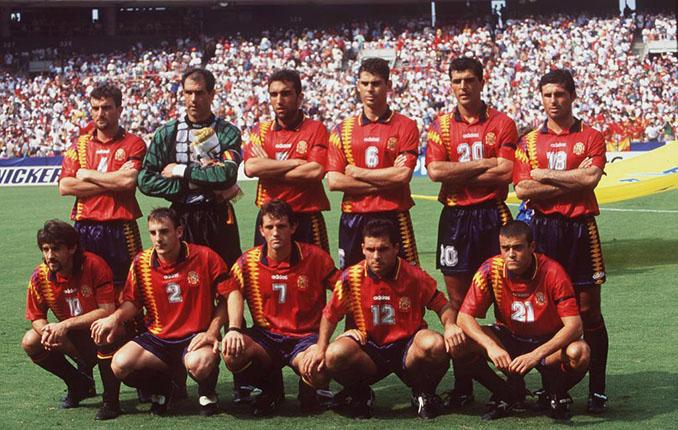 Once inicial de España ante Suiza en el Mundial '94 - Odio Eterno Al Fútbol Moderno