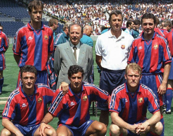 Figo junto al resto de fichajes culés en la 1995-1996 - Odio Eterno Al Fútbol Moderno