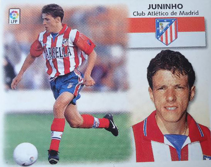 Cromo de Juninho Paulista - Odio Eterno Al Fútbol Moderno