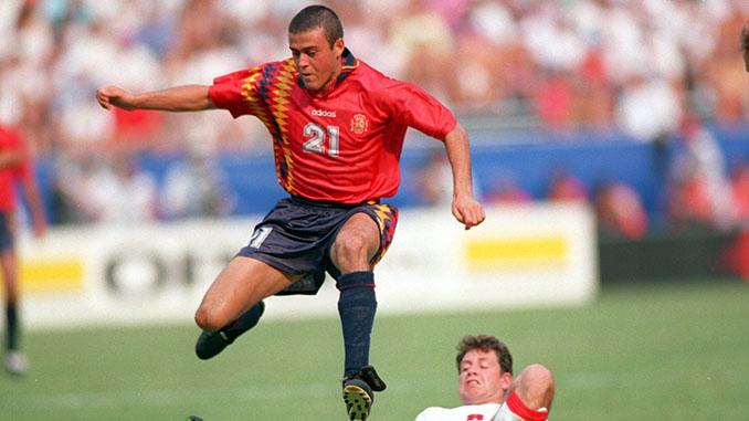 Luis Enrique marcó el segundo gol en el España vs Suiza del Mundial '94 - Odio Eterno Al Fútbol Moderno