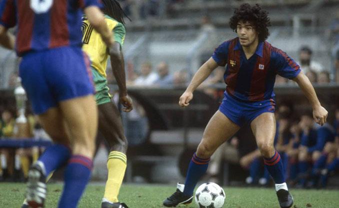Maradona, durante su etapa del FC Barcelona - Odio Eterno Al Fútbol Moderno