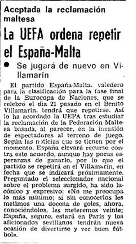 """""""Noticia"""" de la repetición del partido España vs Malta - Odio Eterno Al Fútbol Moderno"""