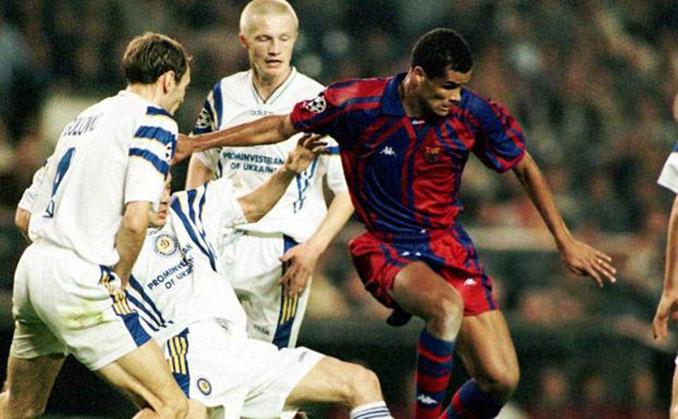 Rivaldo en el FC Barcelona vs Dinamo de Kiev de 1997 - Odio Eterno Al Fútbol Moderno