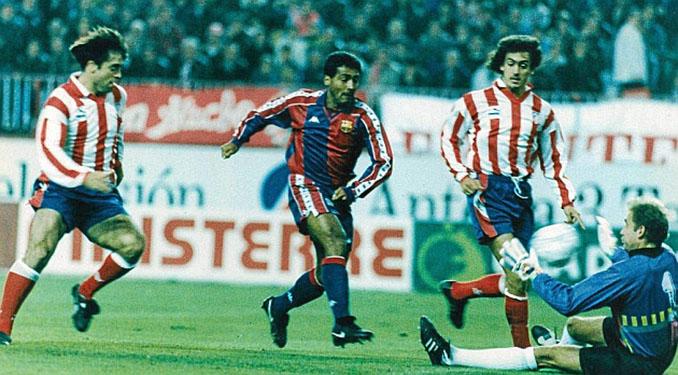 Romario marcó un hat trick en el Calderón en 1993 - Odio Eterno Al Fútbol Moderno