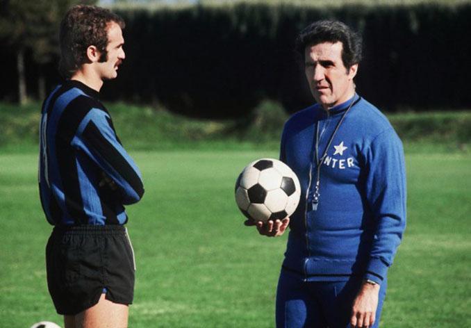 Sandro Mazzola y Helenio Herrera, leyendas del Inter de Milán - Odio Eterno Al Fútbol Moderno