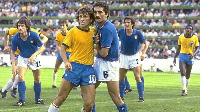 Zico marcado por Gentile en el Brasil vs Italia de 1982 - Odio Eterno Al Fútbol Moderno