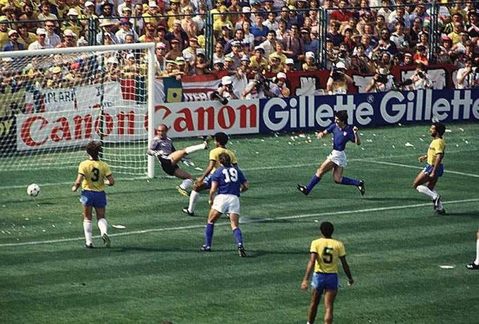 Primer gol de Rossi en el Brasil vs Italia de 1982 - Odio Eterno Al Fútbol Moderno