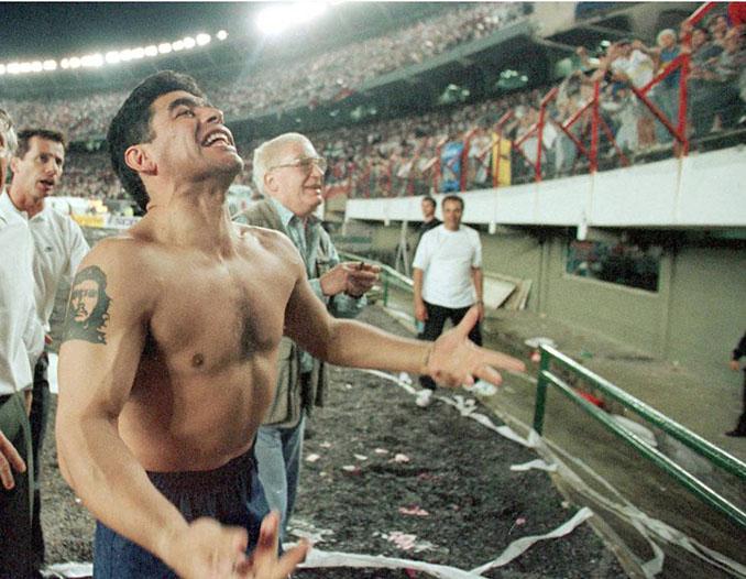 Maradona tuvo sus mas y sus menos con la hinchada de El Monumental - Odio Eterno Al Fútbol Moderno