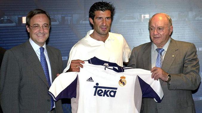 Presentación de Figo con el Real Madrid - Odio Eterno Al Fútbol Moderno