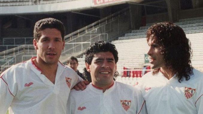 """El Sevilla de """"Los Diegos"""": Simeone, Maradona y Rodríguez - Odio Eterno Al Fútbol Moderno"""