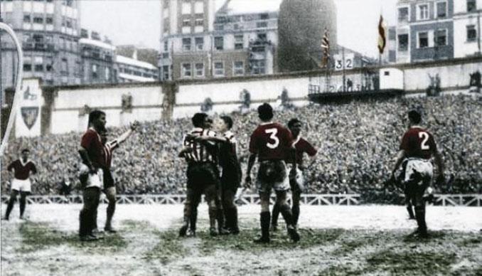 """Athletic Club vs Manchester United de 1957 """"El partido de la nieve"""" - Odio Eterno Al Fútbol Moderno"""