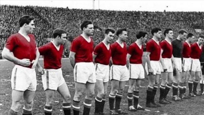 """Manchester United de los """"Busby Babes"""" en 1957 - Odio Eterno Al Fútbol Moderno"""