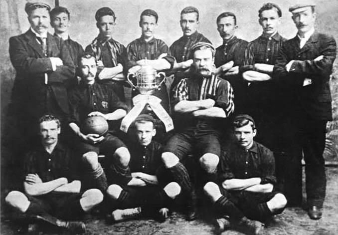 Jugadores de Central Uruguay Railway Cricket Club en 1900 - Odio Eterno Al Fútbol Moderno