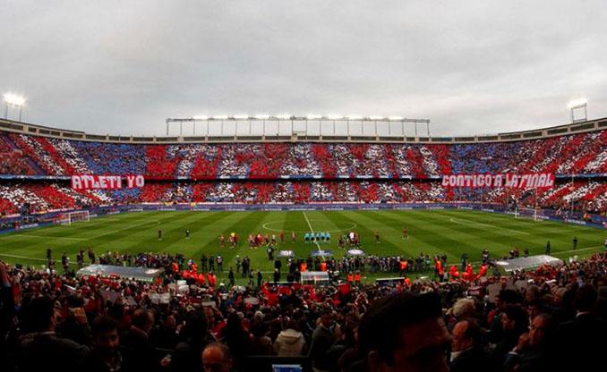 Mosaico en el Estadio Vicente Calderón - Odio Eterno Al Fútbol Moderno