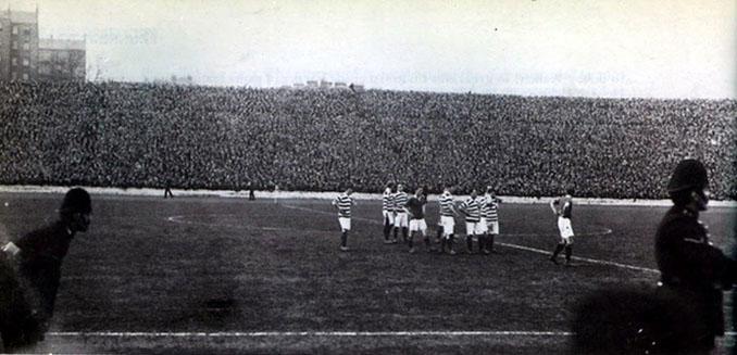 Jugadores del Celtic en la final de la Scottish Cup de 1909 disputada den Hampden Park - Odio Eterno Al Fútbol Moderno
