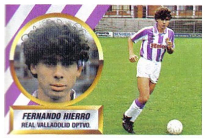 Cromo de Fernando Hierro - Odio Eterno Al Fútbol Moderno