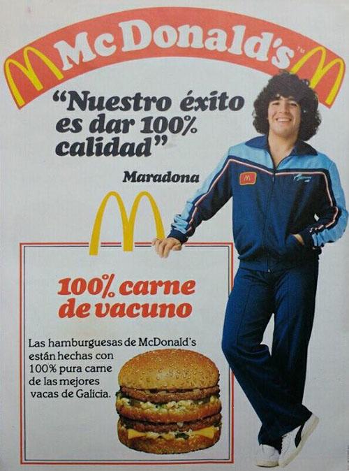 Spot publicitario de la conocida cadena de hamburguesas protagonizado por Maradona - Odio Eterno Al Fútbol Moderno