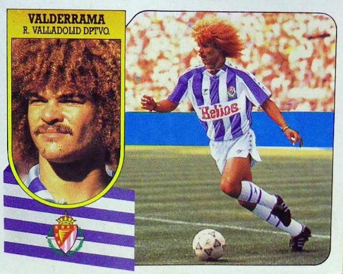 Cromo de Carlos Valderrama - Odio Eterno Al Fútbol Moderno