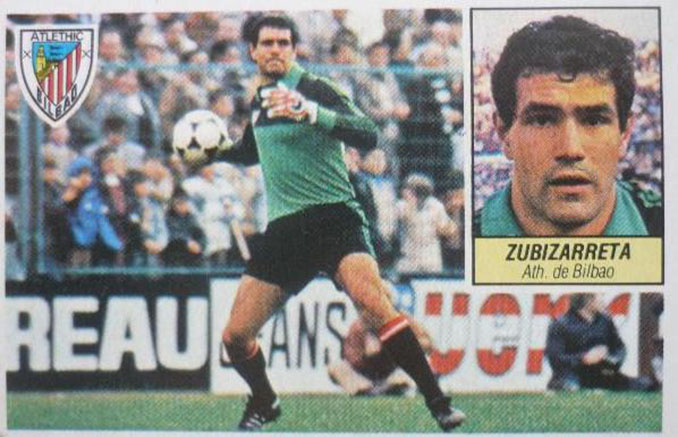 Cromo de Andoni Zubizarreta - Odio Eterno Al Fútbol Moderno