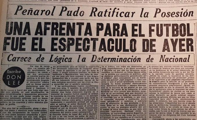 Prensa uruguaya haciéndose eco de EL Clásico de la fuga - Odio Eterno Al Fútbol Moderno