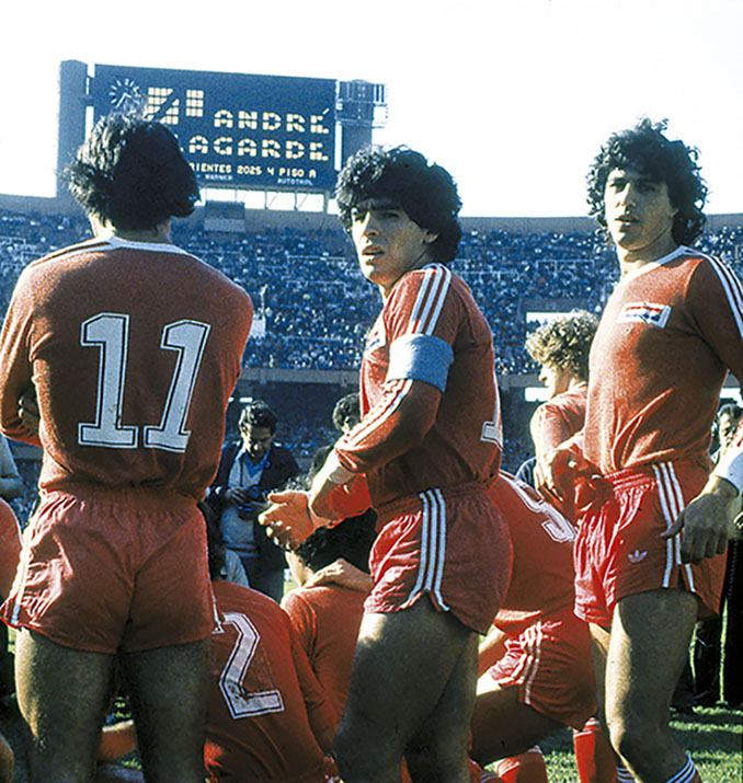 Maradona durante su etapa en Argentinos Juniors - Odio Eterno Al Fútbol Moderno